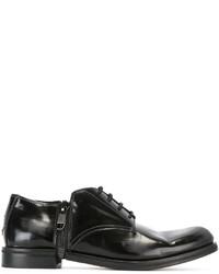 Zapatos derby de cuero negros de Diesel