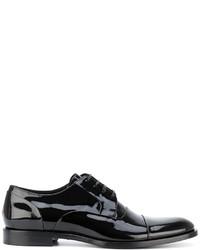 Zapatos derby de cuero negros de Dolce & Gabbana