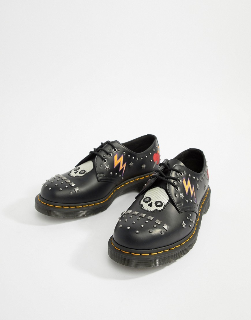 Zapatos derby de cuero negros de Dr. Martens