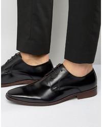 Zapatos Derby de Cuero Negros de Dune