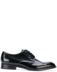 Zapatos derby de cuero negros de Emporio Armani