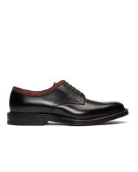 Zapatos derby de cuero negros de Gucci