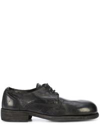 Zapatos derby de cuero negros de Guidi
