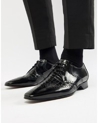 Zapatos Derby de Cuero Negros de Jeffery West