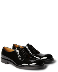 Zapatos derby de cuero negros de Jil Sander