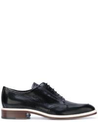 Zapatos derby de cuero negros de Lanvin