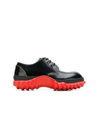 Zapatos derby de cuero negros de Marni