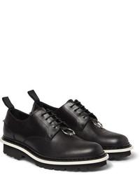 Zapatos derby de cuero negros de Neil Barrett