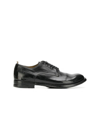 Zapatos derby de cuero negros de Officine Creative