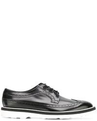 Zapatos derby de cuero negros de Paul Smith