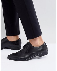 Zapatos derby de cuero negros de Pier One