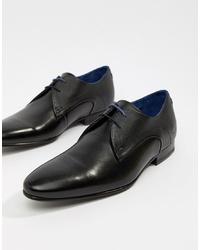 Zapatos derby de cuero negros de Ted Baker