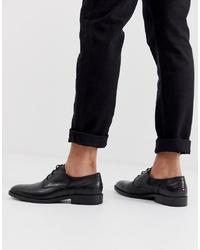 Zapatos derby de cuero negros de Tommy Hilfiger