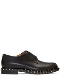 Zapatos derby de cuero negros de Valentino