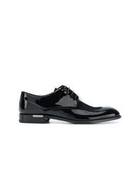 Zapatos derby de cuero negros de Versace