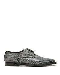 Zapatos derby de cuero plateados de Dolce & Gabbana