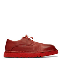 Zapatos derby de cuero rojos de Marsèll