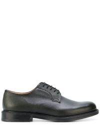 Zapatos Derby de Cuero Verde Oscuro de Church's