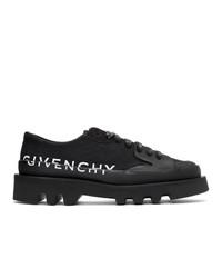 Zapatos derby de lona negros de Givenchy