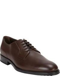 Zapatos derby en marrón oscuro