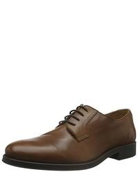 Zapatos Derby Marrón Oscuro de Selected