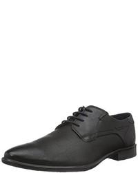 Zapatos derby negros de Bugatti
