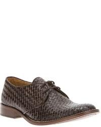 Zapatos derby tejidos marrón claro