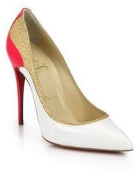 Zapatos en blanco y rojo