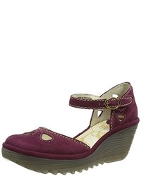 Zapatos morado oscuro de Fly London