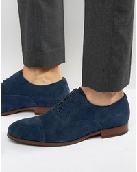 Zapatos oxford de ante azul marino de Aldo