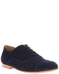 Zapatos oxford de ante azul marino de B Store
