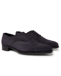 Zapatos oxford de ante azul marino de Kingsman