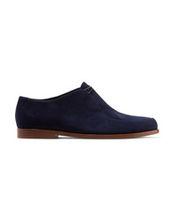 Zapatos oxford de ante azul marino de Mansur Gavriel