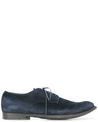 Zapatos oxford de ante azul marino de Officine Creative