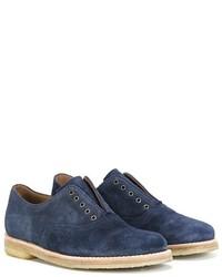 Zapatos oxford de ante azul marino de Pépé