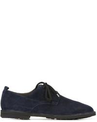 Zapatos oxford de ante azul marino de Rocco P.