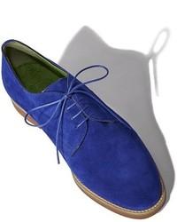 Zapatos oxford de ante azules