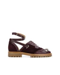 Zapatos oxford de ante burdeos de Rue St