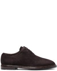 Zapatos oxford de ante en marrón oscuro de Dolce & Gabbana