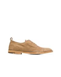 Zapatos oxford de ante marrón claro de Premiata