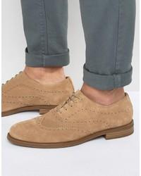 Zapatos oxford de ante marrón claro de Vagabond