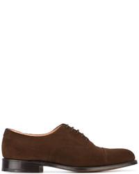 Zapatos Oxford de Ante Marrón Oscuro de Church's
