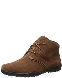 Zapatos oxford de ante marrónes