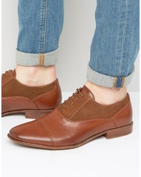 Zapatos Oxford de Ante Marrónes de Asos