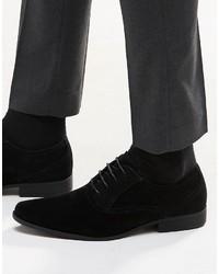 Zapatos oxford de ante negros de Asos