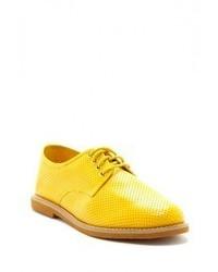 Zapatos oxford de cuero amarillos