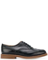 Zapatos oxford de cuero azul marino de Church's