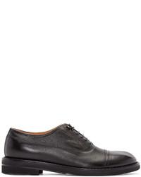 Zapatos oxford de cuero azul marino de Maison Margiela