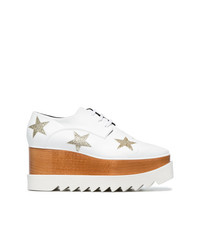 Zapatos oxford de cuero blancos de Stella McCartney