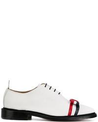 Zapatos oxford de cuero blancos de Thom Browne